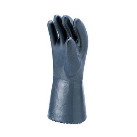 【三重化学工業】耐油アップ(黒)(10双)・耐油ビニール手袋・スベリ止め部分にポリウレタンを施し、さらに耐油性をアップしました。【ミエローブ】