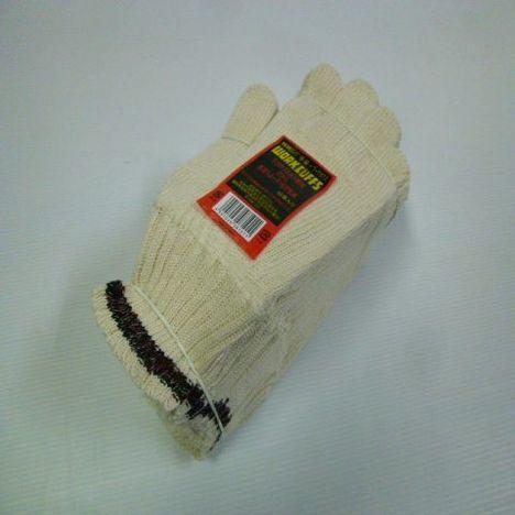 純綿ワークカフス手首ゴム無し5本編約800g(20ダース)・リサイクル繊維を利用した純綿ロングエコ軍手です。・手首のゴム糸不使用なため脱着スムーズ&疲労軽減