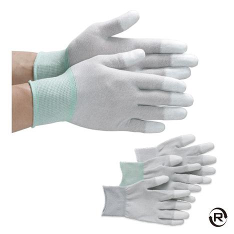 静電指先パームハンド手袋(10双)・静電指先PU手袋