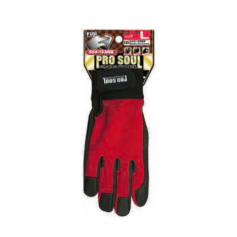 PS 992 プロソウル (10双) 人工皮革マジック手袋 タッチパネル操作可能 指先補強 PROSOUL 富士グローブ