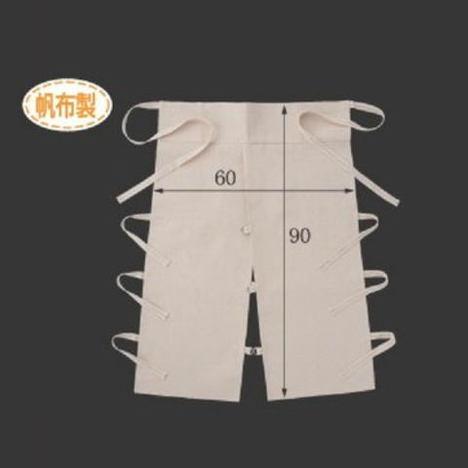 帆布ローハイド腰前掛(10枚) 布製エプロン 高さ90cm×横幅60cm CAN-008 富士グローブ