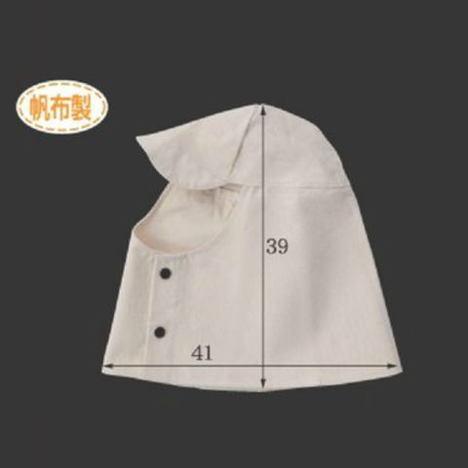 帆布ズキン(10枚) 頭巾 目だし帽 高さ39cm×横幅41cm Mサイズ CAN-201 富士グローブ