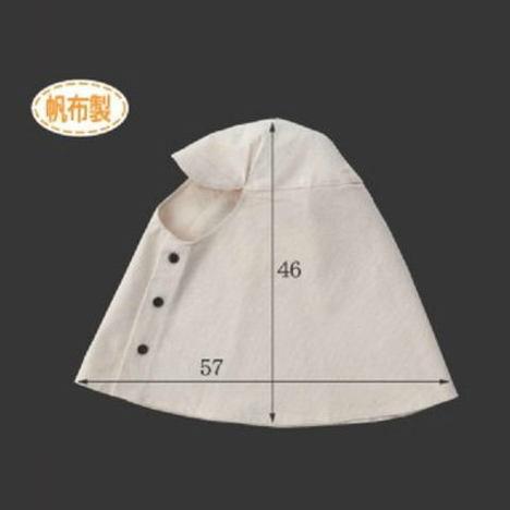 帆布ズキン(10枚) 頭巾 目だし帽 高さ46cm×横幅57cm Lサイズ CAN-201 富士グローブ