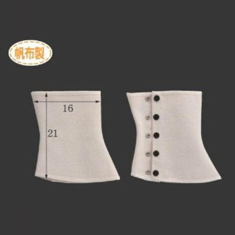 帆布脚絆足カバーボタン式(10足) 長さ21cm×横幅16cm Mサイズ CAN-407 富士グローブ