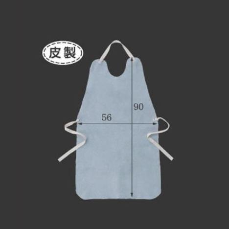 皮製胸当前掛(10枚) 溶接 鉄工所 エプロン 高さ90cm×横幅56cm 富士グローブ