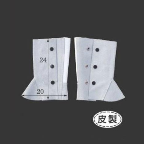 皮製ゴム式足カバー(1足) 牛床革脚絆 溶接 鉄工所 長さ24cm×横幅20cm 富士グローブ