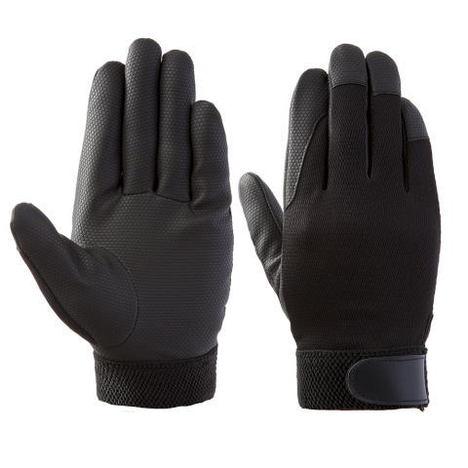 富士グローブ デジブラック(10双) お買い得PU黒手袋