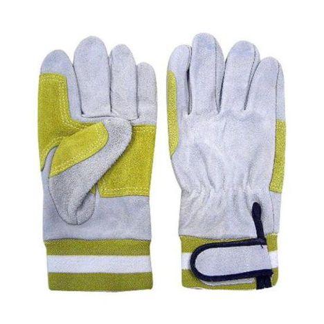 753 トコテワイヤー手袋(10双) 2重当て付皮手袋 ワイヤー作業 船舶作業 富士手袋工業 天牛 フジテ