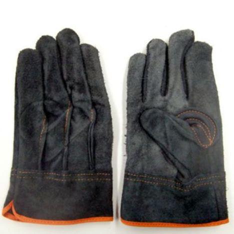床皮黒手袋(10双) 牛床皮使用の黒色革手袋です。黒色なので汚れが目立たないです。富士手袋工業 天牛 フジテ