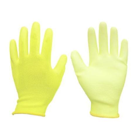 ウレタン背抜き手袋10双入×5袋(50双セット) ウレタンメガ 5色 PUコート手袋 5380 富士手袋工業