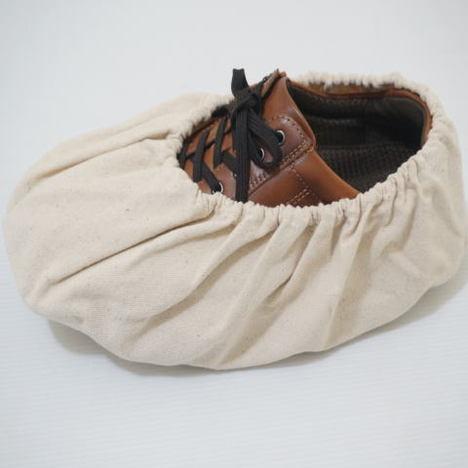 帆布靴カバー(10足分)建築現場シューズカバー 丈夫な靴カバー ハンプシューズカバー 長さ32cm×横幅14cm CAN-410 富士グローブ