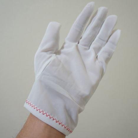 ナイロンミルコットマチ付(1ダース) 中国産生地使用 ナイロンスムス手袋 薄手のナイロン白手袋が必要なお客様向けです! ハーフコット 品質管理用ナイロン手袋