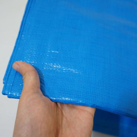 ブルーシート 3000 厚手 16枚セット 規格2.7m×4.5m (1.5間×2.5間) 実寸 約2.55m×4.4m ハトメ数16 防水 水濡れ防止 雨漏 雨除 野積み 養生 保護 保管