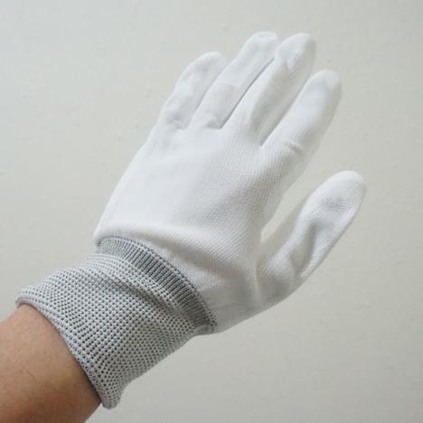 ウレタン背抜き手袋10双入×10袋(100双セット) PUコーティング手袋 使い捨ての品質管理、精密作業用PU手袋です! PUフィットパーム手袋