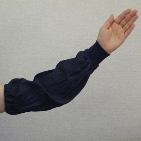 デニム腕カバー ジャージ1双入 (120双) 作業 事務 使い捨て デニム腕抜き まとめ買い 激安 最安 大量購入