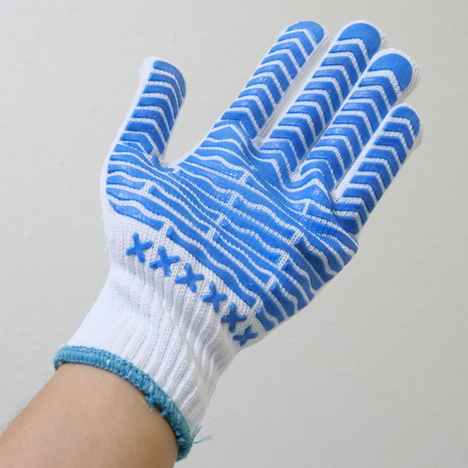 滑り止め軍手 ゴムキーパー手袋 5ダース(60双) Lサイズ グリップ力と指へのフィット感が抜群 運送 運輸 運搬 物流倉庫 宅配 引越し ダンボール運び 積み下ろし作業 青ライン手袋 まとめ買い