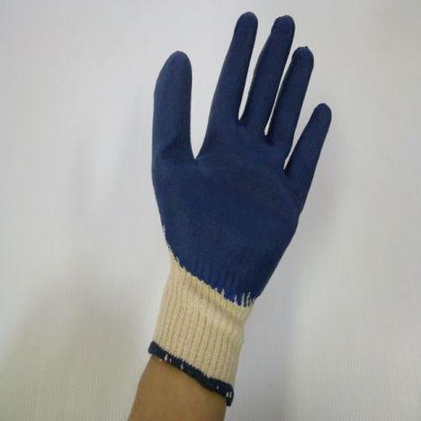 ゴム引き手袋生成5双入×96袋(480双)  激安ラバー軍手