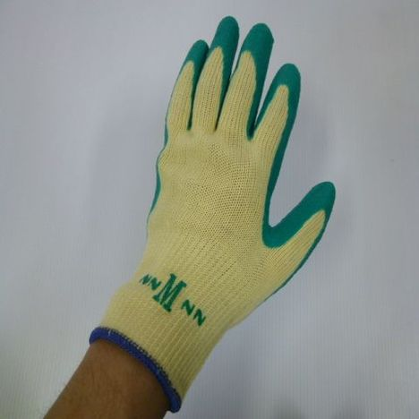 タフグリーン10双組(120双) ゴム引き手袋 ラバー軍手 ミタニコーポレーション