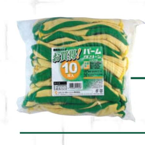 パームグリーン10双組(120双) ゴム張り手袋 ミタニコーポレーション