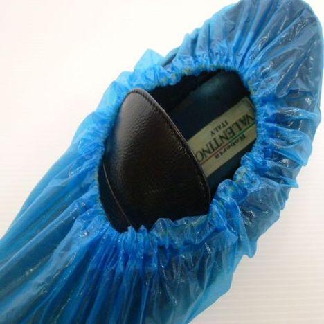 エブノ No.726ポリエチレン靴カバー100枚(50足分) 使い捨てシューズカバー