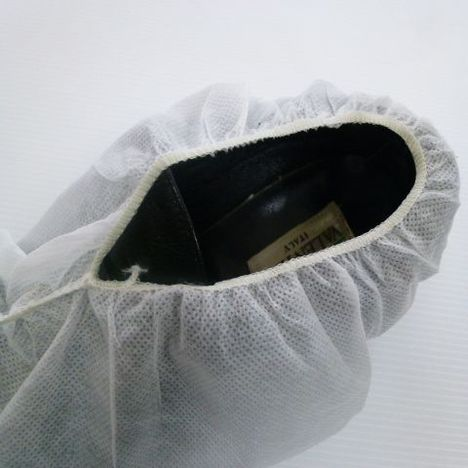 不織布靴カバー1000枚(20枚入×50袋)〔500足分〕 クリーンルームシューズカバー 使い捨てシューズカバー ディスポ靴保護カバー 食品工場 化粧品工場 半導体工場 工場見学 病棟での面会