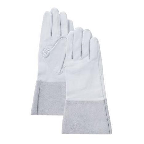 クレスト床袖アルゴン溶接用クレスト手袋(10双) 溶接袖付グローブ クレストロング手袋 富士グローブ