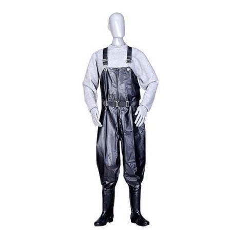 マイ軽快胴付長 胴部にマイテックス生地を使用 靴部にゾナG3ネオ耐油長靴を使用 弘進ゴム
