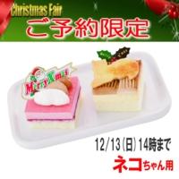 2015クリスマスケーキ予約プチケーキセット 猫ペット用