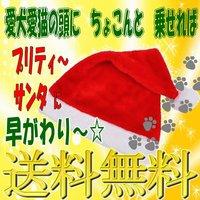 サンタ帽子 ペット用【送料無料】