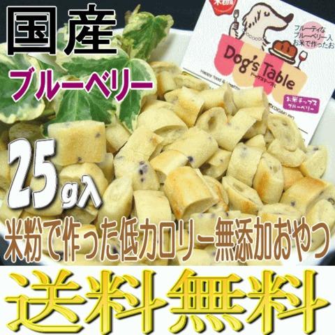お米チップス ブルーベリー25g ドッグステーブル 送料無料