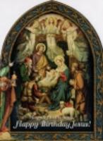 ノートカード/Happy Birthday Jesus