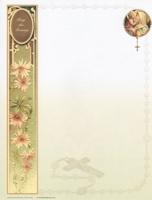 レターシート/聖母子とロザリオ