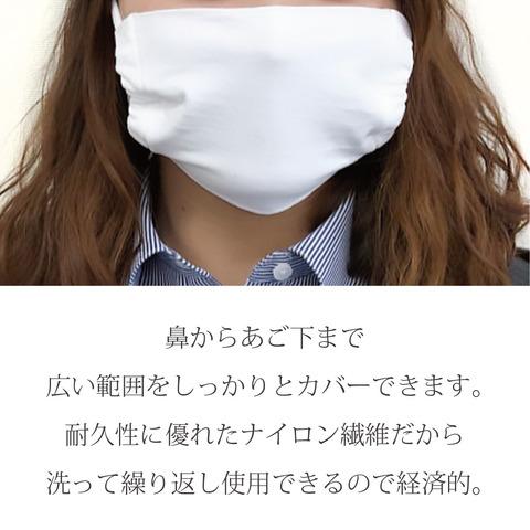 日本製・ナイロンマスク2枚組(白・グレー各1枚)オーガンジー袋入り