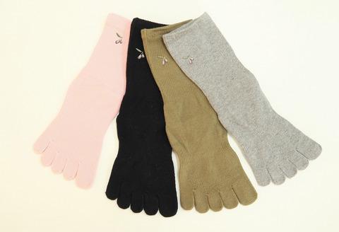 オリーブ靴下2足履き比べギフト(女性用)