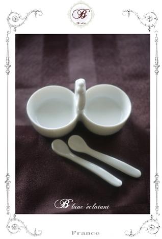 ジャムカップ (2種入れ) ミニスプーン2個付