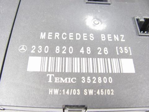 中古 ベンツ R230 右ドアコントロールユニット 2308204826 SL350 SL500 SL600 SL55 SL65