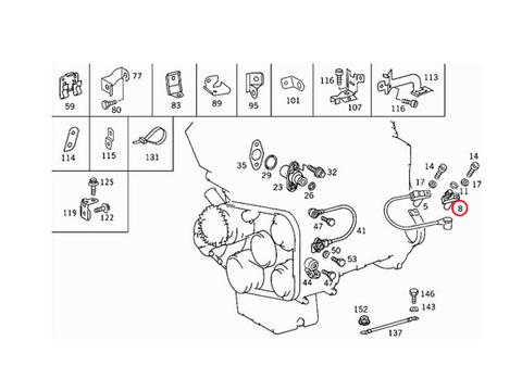 ベンツ W140 C140 R129 W210 S210 クランク角/クランクカクセンサー クランクポジションセンサー M104 M111 M119 M120 新品 0031537428