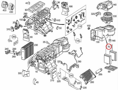 MEYLE製 ベンツ W203 エアコンフィルター/チャコールフィルター 内気用 2枚セット C180 C230 C240 C320 C55 新品 2038302118