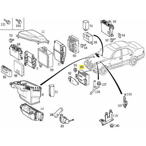 ベンツ W210 W208 W202 R170 電動ファンコントロールユニット (補助ファン) E240 E320 E430 C180 C200 C230 C240 新品 0255453332