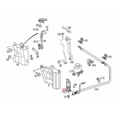 ベンツ W463 W245 R230 W221 ヘッドライトウォッシャーポンプ 新品 2108691121 2108691221