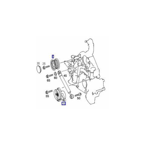 ベンツ W208 W209 ベルトテンショナー アイドラプーリー ファンベルト (Vベルト)3点セットM112(V6) M113(V8) エンジン用 3点セット 1122000070
