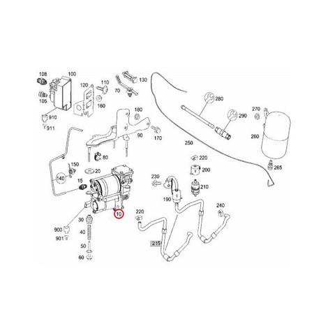 純正OEM AMK製 ベンツ Sクラス W221 エアサスコンプレッサー/エアサスポンプ リレー付き 2213201704 0025422319 0025427619 S350
