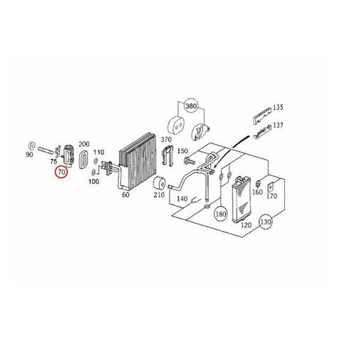 ACM製 ベンツ エキスパンションバルブ R230 W203 W204 W207 W209 W211 W212 W215 W216 W219 W220 W221 W463 2308300184