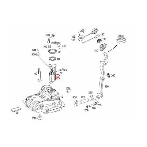Pierburg製 ベンツ W169 W245 燃料ポンプ フューエルポンプ A170 A180 A200 B170 B180 B200 1694700494 0986580157 700468720