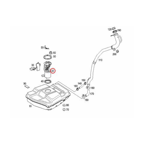 純正OEM Pierburg製 ベンツ W168 前期 Aクラス 燃料ポンプ/フューエルポンプ 1684702894 1684703294 1684704294 722810600