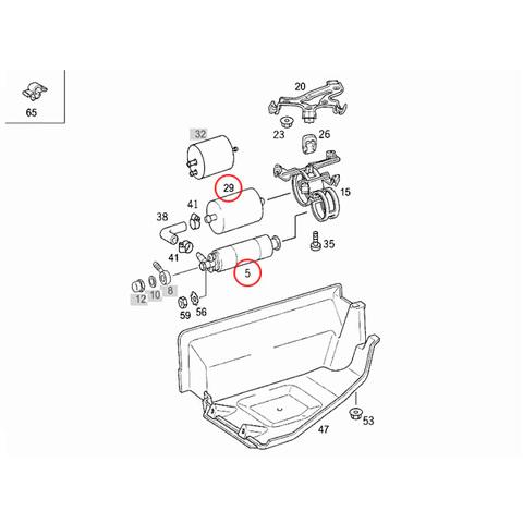 純正OEM 燃料ポンプ&フィルターセット
