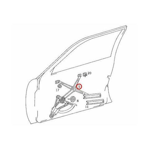 ベンツ W124 パワーウィンドウレギュレーター 左フロント モーター付き 1247200346 Eクラス E200 E230 E220 260E 280E 300E 320E E320 E420