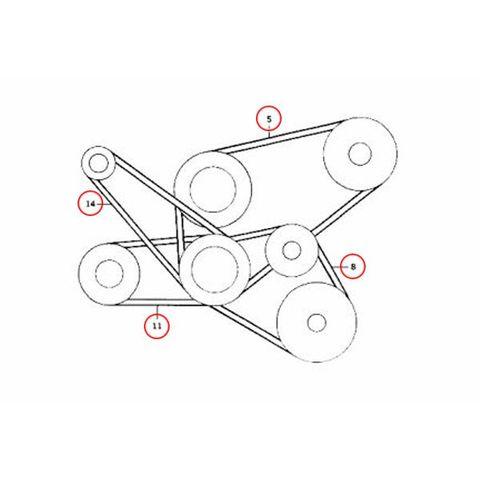 ベンツ 純正OEM Continental製 W126 ファンベルト/エンジンベルト 5本セット 0089974892 0049970592
