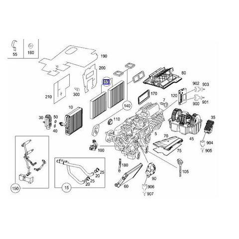 ベンツ W221 W216 エアコンフィルター/エアコンダストフィルター 活性炭入り 2枚セット 2218300018 2218300318 2218300718 MB07217CP2