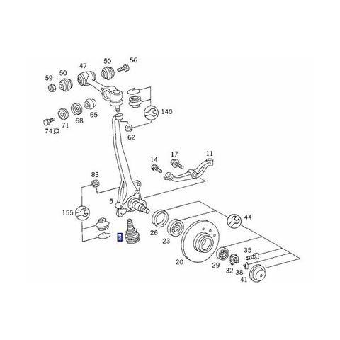 ベンツ W126 フロントロアアームボールジョイント左右セット 1163330927 300SE 300SEL 380SE 380SEL 420SE 420SEL 500SE 500SEL